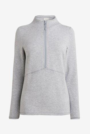 Grey Next Thermogen Zip Top