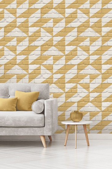 Exclusive to Next Geo Brick Wallpaper by Vymura London