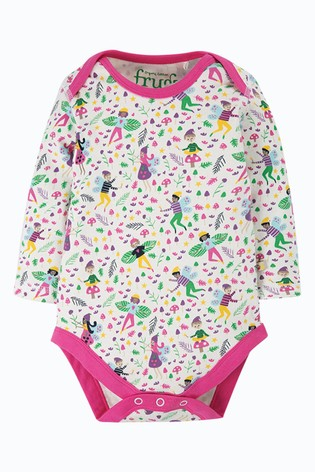 Frugi Pink GOTS Organic Bodysuits Three Pack