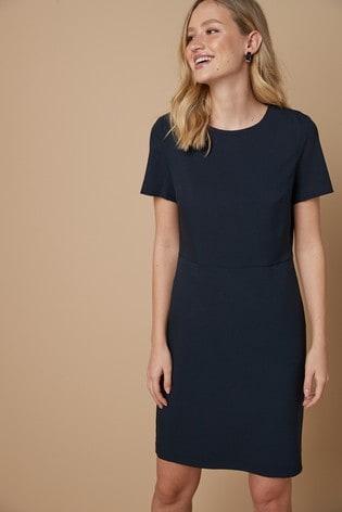 Navy Tailored Dress