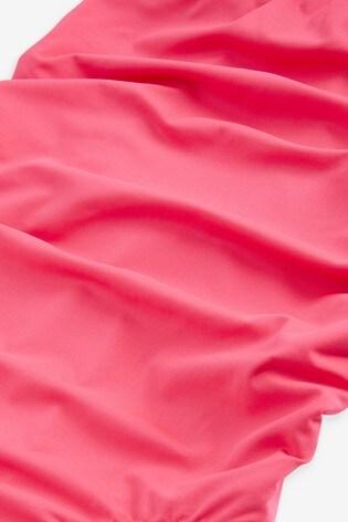 Pink Maternity Bandeau Swimsuit