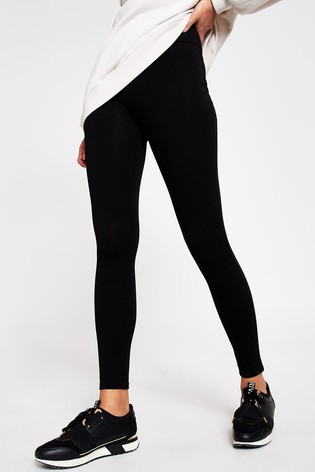 River Island Black Jersey High Waisted Leggings