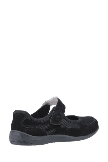 Fleet & Foster Black Morgan Touch Fastening Shoes