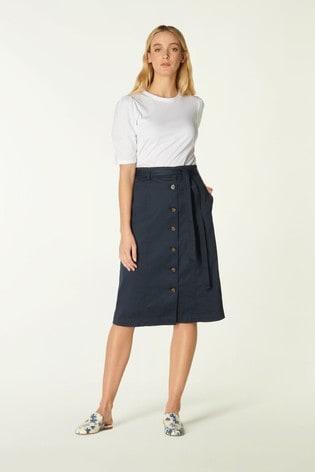 L.K.Bennett Blue Sussex Skirt