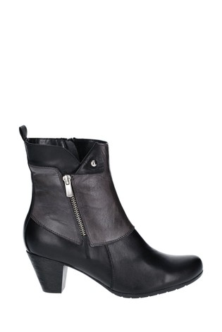 Riva Black Tirso Leather Ankle Boots