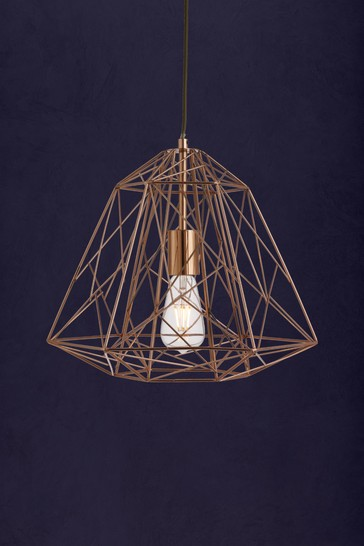 Puttle Cage 1 Light Geometric Pendant by Searchlight