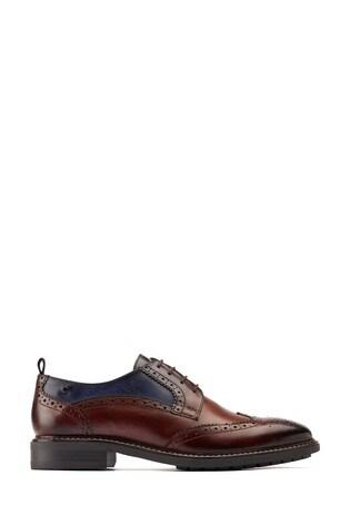 Base London® Brown Lennox Wingtip Derby Shoes