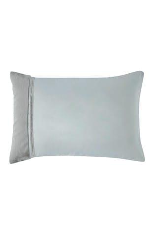Set of 2 Rita Ora Grey Sylvie Faux Fur and Sequin Trim Pillowcases