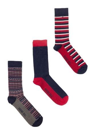 Raging Bull Red Cotton Mix Socks Three Pack