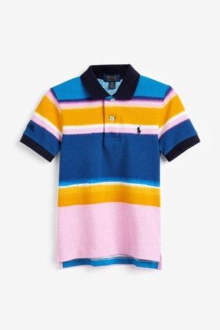 Ralph Lauren Pink Stripe Polo Top