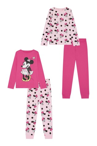 F&F Pink Minnie Mouse™ Pyjamas 2 Pack