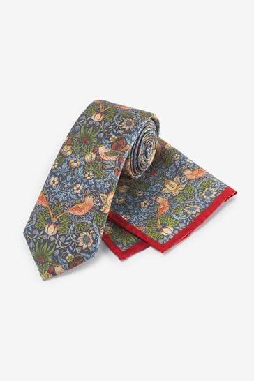 Strawberry Thief Regular Morris & Co. at Next Signature Tie And Pocket Square Set
