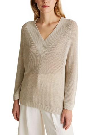 Esprit Cream Easy Knitwear Jumper