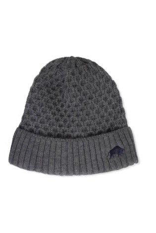 Raging Bull Grey Cable Knit Beanie