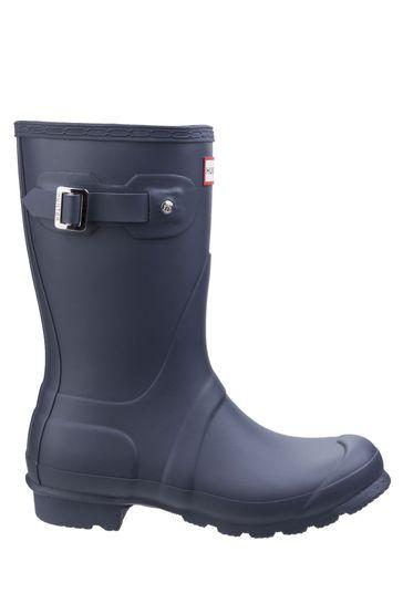Hunter Blue Original Short Wellington Boots