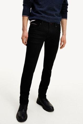Tommy Hilfiger Black Slim Bleecker Jeans