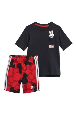 adidas Infant Black Mickey Mouse™ T-Shirt And Short Set