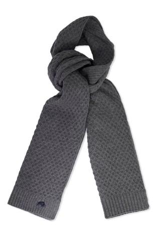 Raging Bull Grey Cable Knit Scarf