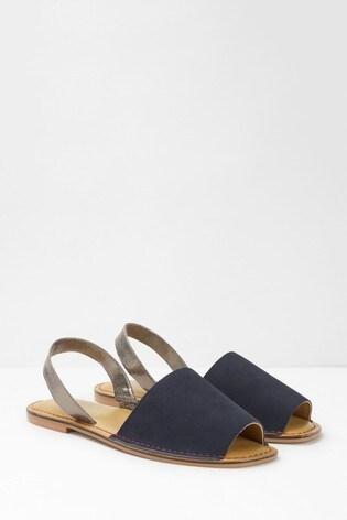 White Stuff Blue Elsie Slingback Sandals