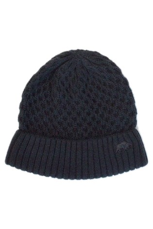 Raging Bull Blue Cable Knit Beanie