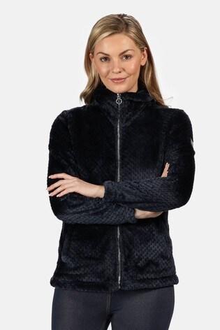 Regatta Blue Hermilla Velour Full Zip Fleece Jacket
