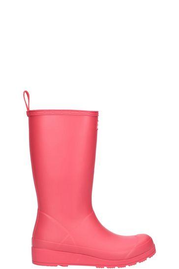 Hunter Pink Original Play Tall Wellington Boots
