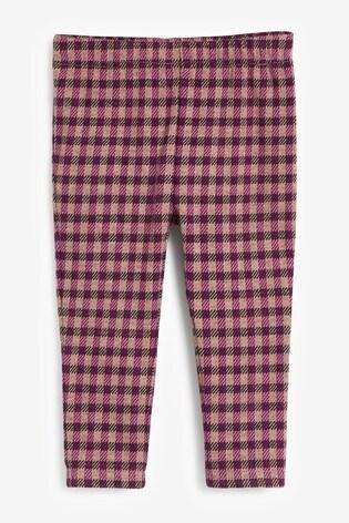 Purple Check Leggings (3mths-7yrs)