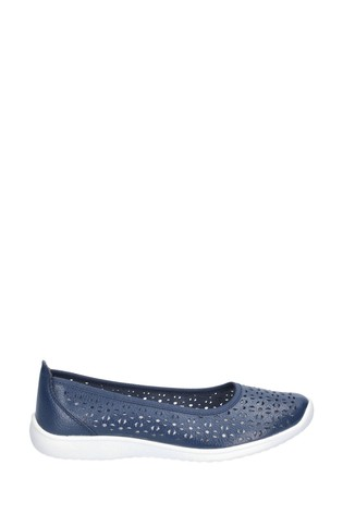 Fleet & Foster Blue Anne Slip On Shoes