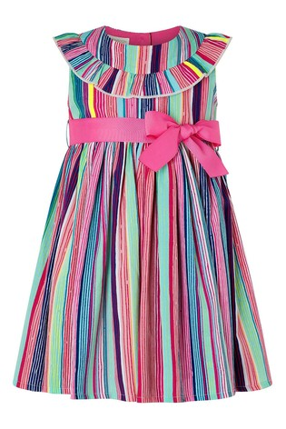 Monsoon  Pink S.E.W. Baby Ophelia Stripe Dress