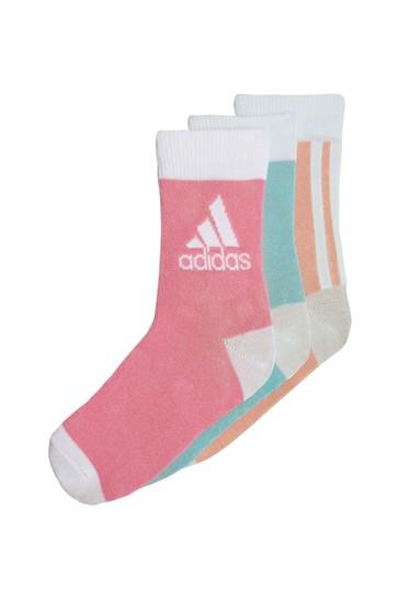 adidas Little Kids Multi Ankle Socks 3 Pack