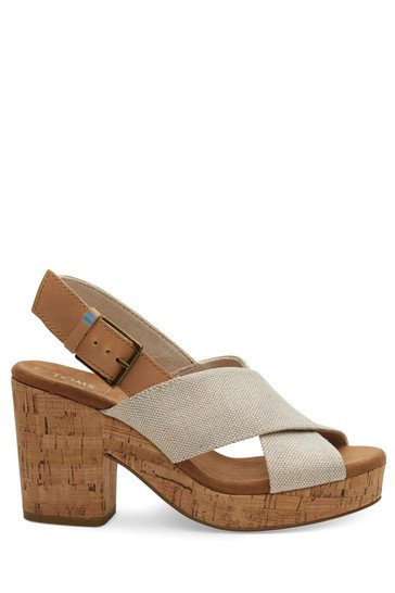 TOMS Pearlized Metallic Woven Ibiza Sandals