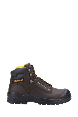CAT Brown Striver Mid Safety Boots
