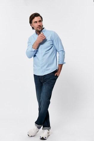 M&Co Men Blue Oxford Shirt
