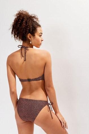 Oasis Black Spot Bandeau Bikini Top