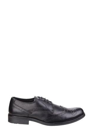 Fleet & Foster Black Tom Lace Shoes