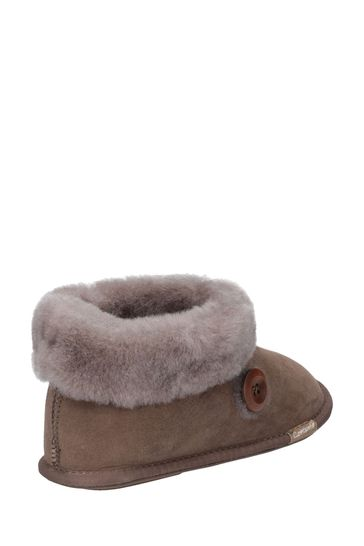Cotswold Cream Wotton Sheepskin Bootie Slippers