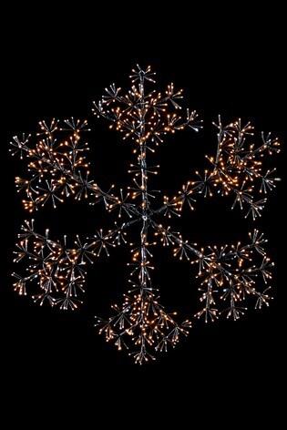 Starburst Snowflake Twinkle Decoration