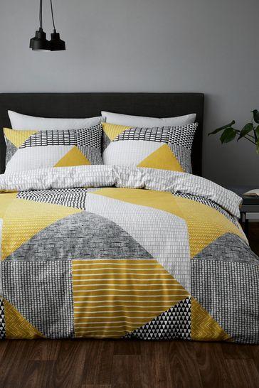 Catherine Lansfield Larson Geo Duvet Cover and Pillowcase Set