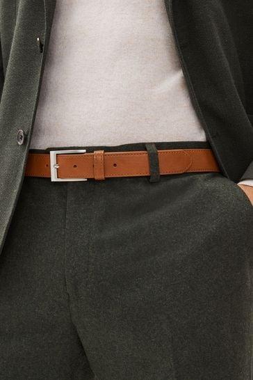 Tan Stitched Edge Belt