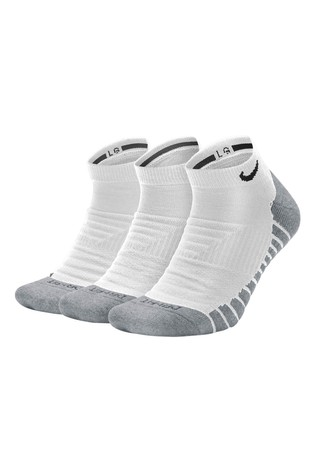 Nike Adult White Trainer Socks Three Pack