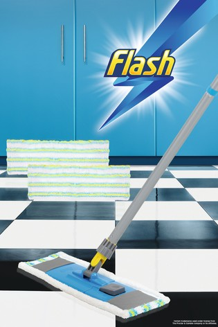 Flash Flat Mop And 2 Flat Mop Refills by Wham