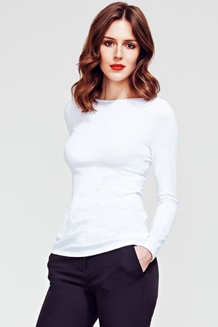 HotSquash Pure White Easy Elegance Top
