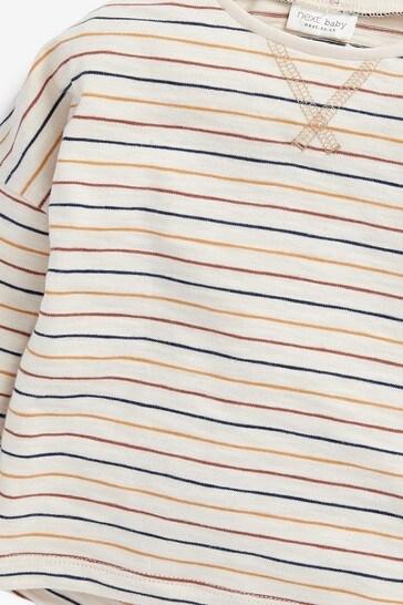 Multi Neutral 4 Pack Long Sleeve T-Shirts (0mths-2yrs)