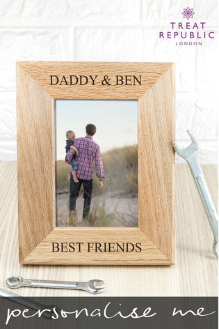 Personalised Oak Photo Frame by Treat Republic