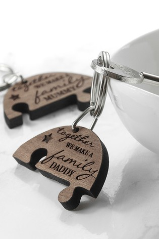 Personalised Family Together Keyring by Treat Republic