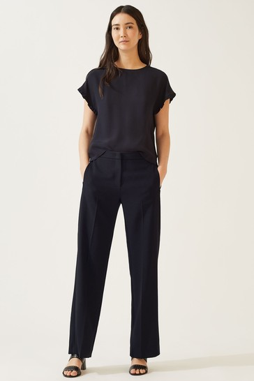 Jigsaw Modern Crepe Crop Straight Trousers