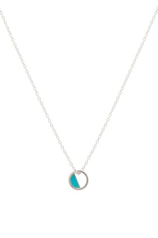 Oliver Bonas Sterling Silver Charo Turquoise Necklace