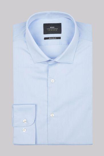 Moss London Extra Slim Fit Sky Single Cuff Stretch Shirt