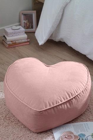 Velvet Heart Beanbag