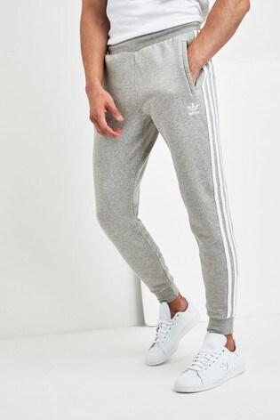 adidas Originals Grey 3 Stripe Joggers